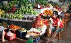 Rejse til Vietnam, frugt forhandler