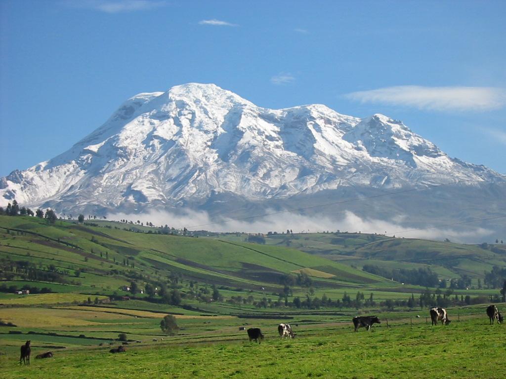 Ecuador snedækket bjerg